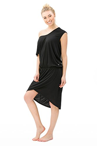 super.natural Damen Kleid, Mit Merinowolle, W COMFORT DRESS, L, Schwarz