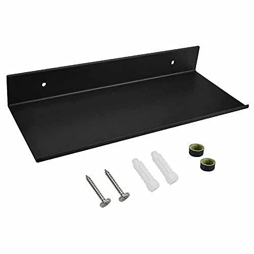 AIYoo - Estante de baño negro para pared (aluminio, con tornillos, para...