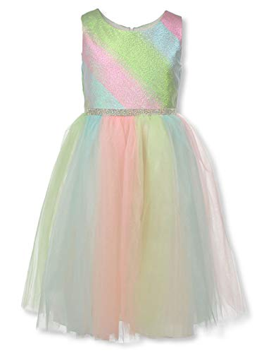 Bonnie Jean Young Girls Pastel Rainbow Dress