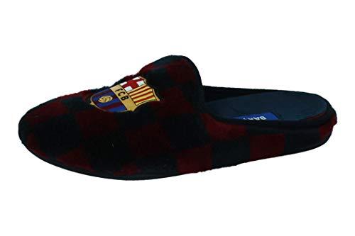 Zapatillas Oficiales FC Barcelona 1a Equipación Zapatillas de Estar por casa Hombre Invierno Otoño - 28 EU