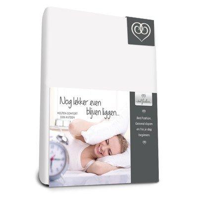 Bed-Fashion Comfort Spannbetttuch, Baumwolle, weiß, Single, 120x 210cm