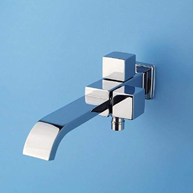 Oudan Spültischmischbatterie Spülenhahn mit drehendem Auslauf nur Kaltwasserhahn Wandhalterung (Farbe   -, Gre   -)