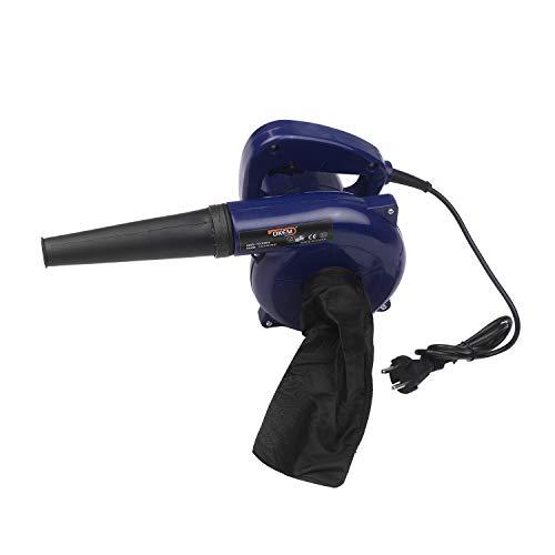 VISLONE Soplador de hojas eléctrico 3 en 1 con cable, aspirador de jardín, 600 W, potente aspirador para coche, bomba de aire portátil para inflables