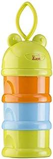 علبه 4طبقات لتخزين بودرة الحليب وطعام الأطفال , بيبي زون ,ملونه