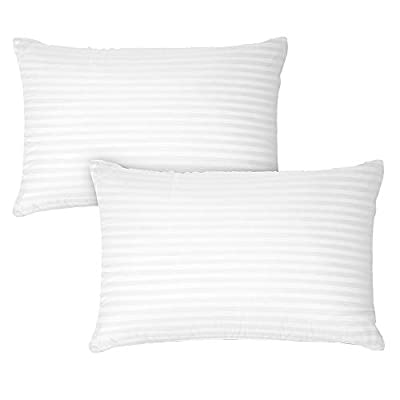 DreamNorth Premium Gel Pillow Loft (Pack of 2) Luxury Plush Soft Bed Pillows for Home + Hotel Collection [Good for Side and Back Sleeper] Cotton Cover Dust Resistant & Hypoallergenic - Queen Size by DreamNorth