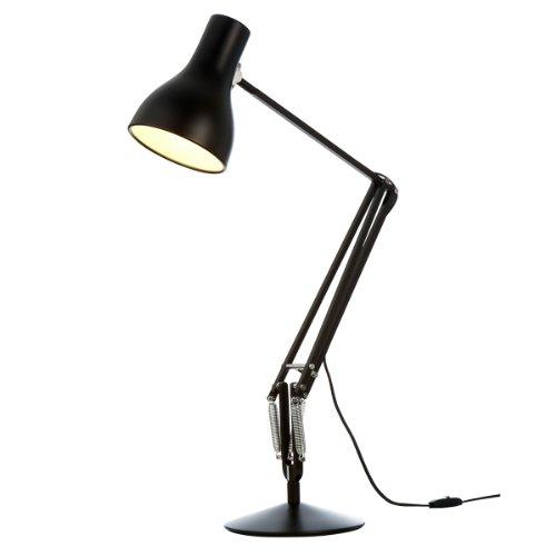 Anglepoise Type 75 LED Schreibtischleuchte, Schwarz matt max. Höhe 66cm 2700K 470lm