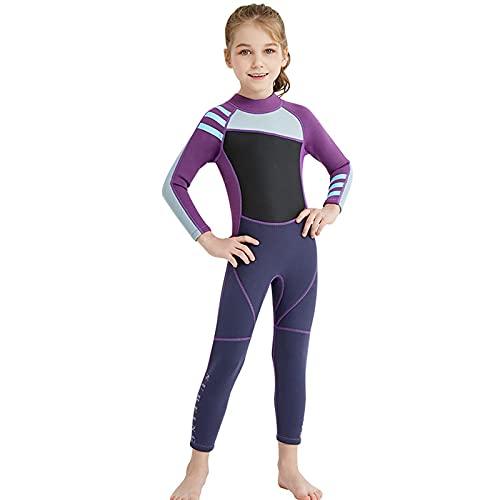 HYZXK Traje de Neopreno para niños de 2,5 mm de Grosor, protección Solar UPF50 +, Traje de Neopreno de una Pieza para niños, Traje de natación Suave y cómodo, Adecuado para Deportes acuá