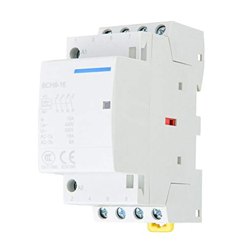 AC Contactor 4P 4NO 16A 24V 220V / 230V 50 / 60Hz Montaje en riel DIN(220V/230V)