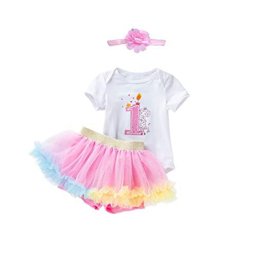 Leideur cumpleaños del bebé Tutu Falda Set, 1 a 2 años de Edad Regalos para Chica