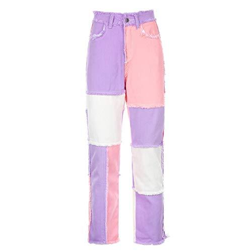 Pantalones vaqueros de cintura alta para mujer, estilo...