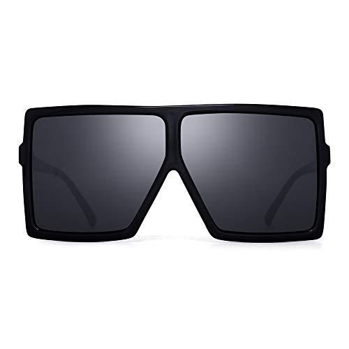 JM Oversized Cuadradas Gafas de Sol Para Mujer Plano Top Diseñador Sombras Protección UV
