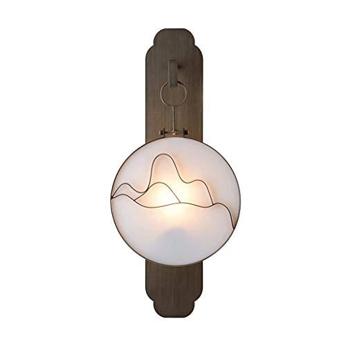 ZHEYANG Apliques Pared Dormitorio Interior Pasillo Sala De Estar Lámpara De Pie Lámina De Hierro (Color : Pequeña)