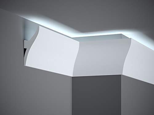 Mardom Decor - QL010 Deckenleise I Lichtleiste für indirekte LED Beleuchtung I 200 x 12 x 4,2 cm