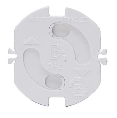 Sicherheitsabdeckung für Schutzkontakt-Steckdosen, Farbe arktis-weiß, Set 4 Stück, 324513088