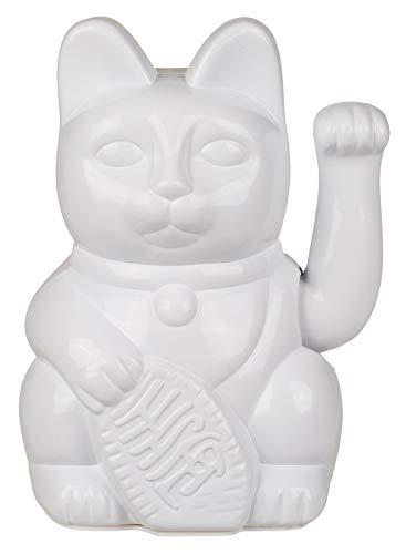MIK Funshopping Gato de la suerte Maneki Neko (blanco, 20 cm)