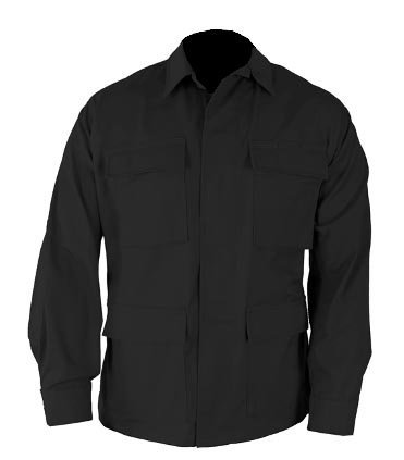 Military Outdoor Clothing Moc BDU Jacket Never Issued BDU Jackets Rip-Stop, Large/Long, Black