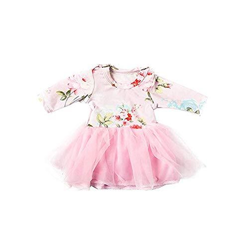 Jorzer 18 Zoll Puppenkleidung Anzug Modische Rock-Mini Sequin Schuhe Kreative Kostüm Edelsteine- Rosa