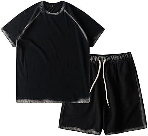 Boy Bone Inkjet Summer Fashion Clothing Toddler Shorts Set Cotton T-shirt and Pants 2-piece suit