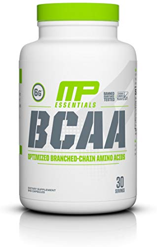MP Essentials BCAA Powder, 6 Grams of BCAA Amino Acids, Post-Workout Recovery Caps for Muscle Recovery and Muscle Building, Valine Powder, BCCA Post-Workout, Unflavored, 30 Servings