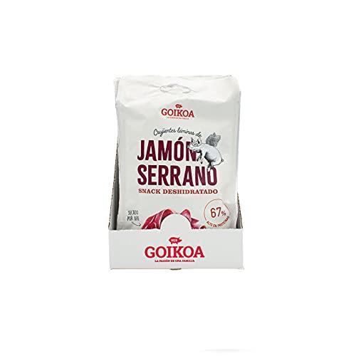 Goikoa Snacks Crujientes Chips de Jamón | Calidad Extra | Proteína Natural | Pack de 8 unidades | 325 g