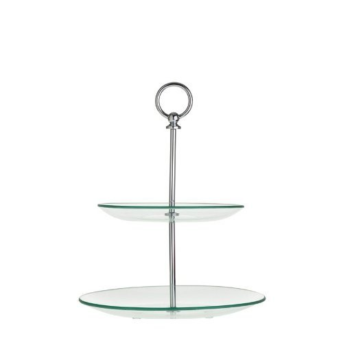 Leonardo 079678 Etagere rund - Teatime - Glas - Metall - 2- stufig