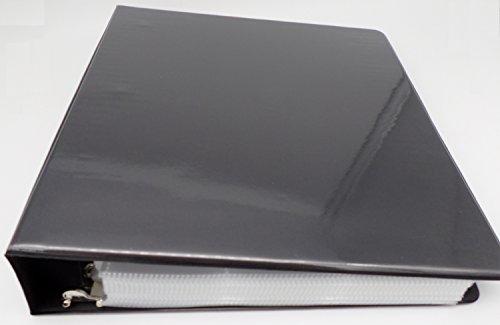 docsmagic.de 3-Ring Album Black + 100 9-Pocket Premium Pages - Sammelalbum + Ordnerseiten - Schwarz - PKM - YGO - MTG