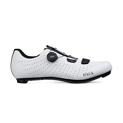 Fizik OverCurve R5 - Zapatillas de Ciclismo Unisex para Adulto, Unisex Adulto, TPR5OCMI2, Blanco/Negro, 43 EU