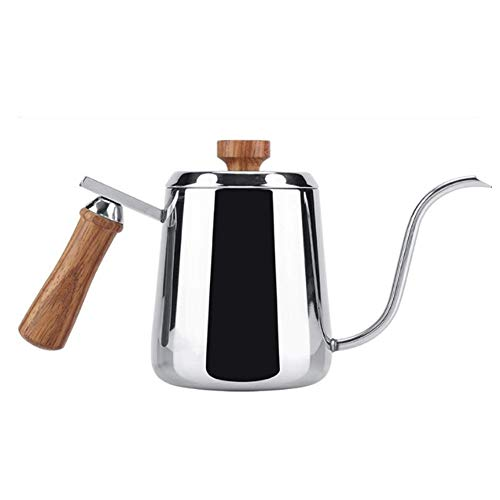 350ml Wooden Handle Stainless Steel Coffee Pot Pour Over Coffee Kettle Long Mouth Gooseneck Drip Kettle Coffee Maker