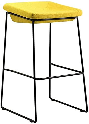 HEZHANG Bar Taburete-Nordic Bar Silla de Barra Simple Casual Hierro Forjado Hogar High Hechos Multi-Color Silla de Comedor Opcional,1