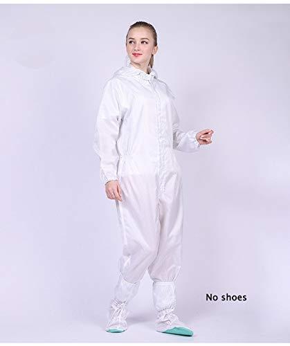 Unisex Hooded Jumpsuit Antistatische staubdichte Arbeitskleidung Schutzkleidung Sicherheitskleidung Staubdicht L.