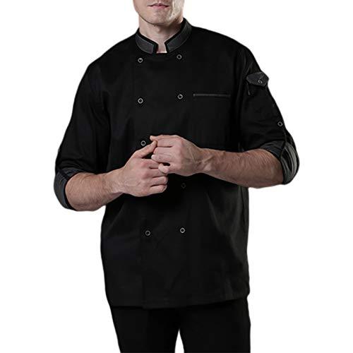 DNJKH Profesional Cocina Casaca, Respirable Hotel Trabajo Ropa, Respirable Chaqueta Cocinero