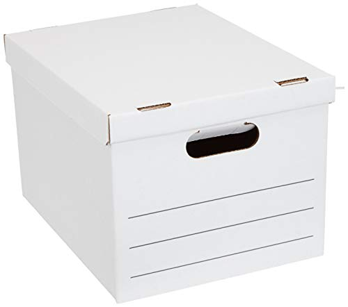 Amazon Basics Basic Duty Storage/Filing Boxes with Lift-Off Lid - Legal/Letter Size, 20-Pack