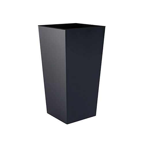 Prosper Plast Blumentopf mit Innentopf, 50cm hoch, Kunststoff, rutschsicher, Urbi-Serie, Größe XL, anthrazit, 7 Farben