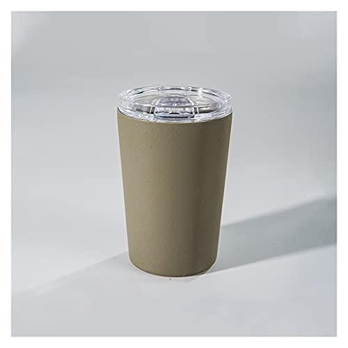 HOUFT Taza de Viaje de Acero Inoxidable, Mini Taza de Las señoras, Taza de café aislada al vacío (con Tapa), preservación de Calor portátil de Doble Capa Durante 12 Horas, Regalo de cumpleaños
