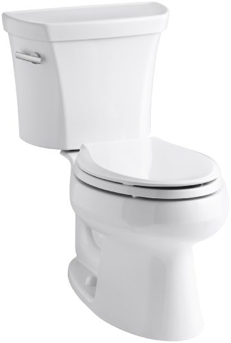 Kohler K-3998-0 Wellworth Elongated 1.28 gpf Toilet, White