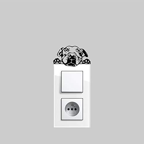 myrockshirt - Pegatina para interruptor de luz, diseño de perro americano Pitbull de aprox. 10 cm, adhesivo para coche, barniz, cristal y pared, adhesivo de pared