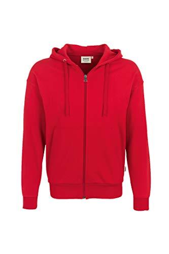 HAKRO Jacke mit Kapuze - 605 - rot - Größe: XL