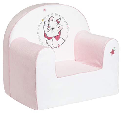 Babycalin Petit Fauteuil Enfant Droit Déhoussable Disney Classic Marie Les Aristochats Poltrona, Rosa
