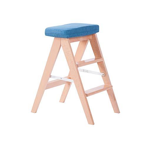 YQQ Tabouret Pliant De Cuisine Tabouret en Bois Massif Mobilier Créatif Tabouret D'escalier Chaise Adulte Monter Les Selles Coiffeuse (Couleur : 10)