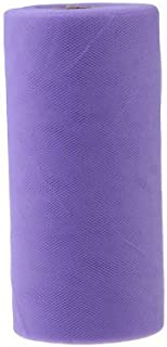 P S Retail 26.7X15cm Colorful (Purple) Tissue Tulle Roll Spool Craft Wedding Party Decoration