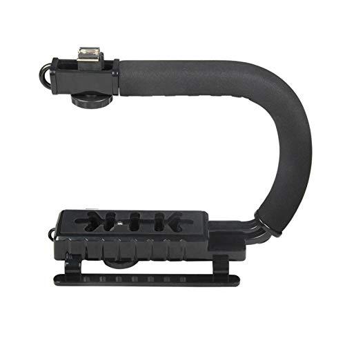Andoer U-Grip Camcorder Stabilizer Handle DSLR Handheld Gimbal C-Shape Video Stabilizer com Flash Hot Shoe Mount Suporta até 4,4 lb para smartphone e câmera