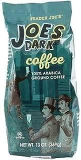 Trader Joe's JOES Dark Roast Coffee 100% Arabica Ground 13 oz (Pack of 2)