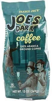 Trader Joe's JOES Dark Roast Coffee 100% Arabica Ground 13 oz (Pack of 2)