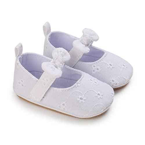 Bebé Niñas Zapatos Princesa Bowknot Antideslizante Fondo Suave Zapatos Caminar Cuna 0-18 Meses