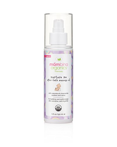 MÁMBINO ORGANICS Mambino Organics Nurture Me Nach Bad Massage-Öl, Calendula + Kamille, 5 Flüssigunzen