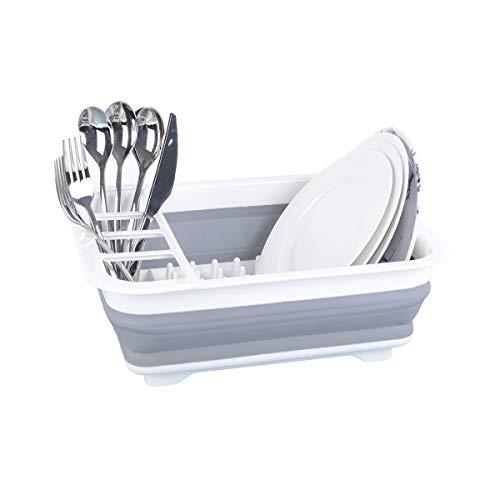 TOLEAD Égouttoir à vaisselle pliable en plastique - Grande capacité - Pour cuisine, fruits, légumes, camping