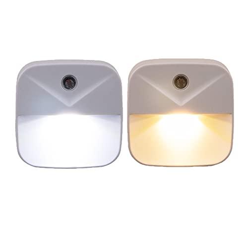 Luz nocturna con sensor de movimiento, 2 unidades, enchufe de bajo consumo, luz nocturna LED para bebés, habitación de los niños, dormitorio, cocina, cuarto de baño