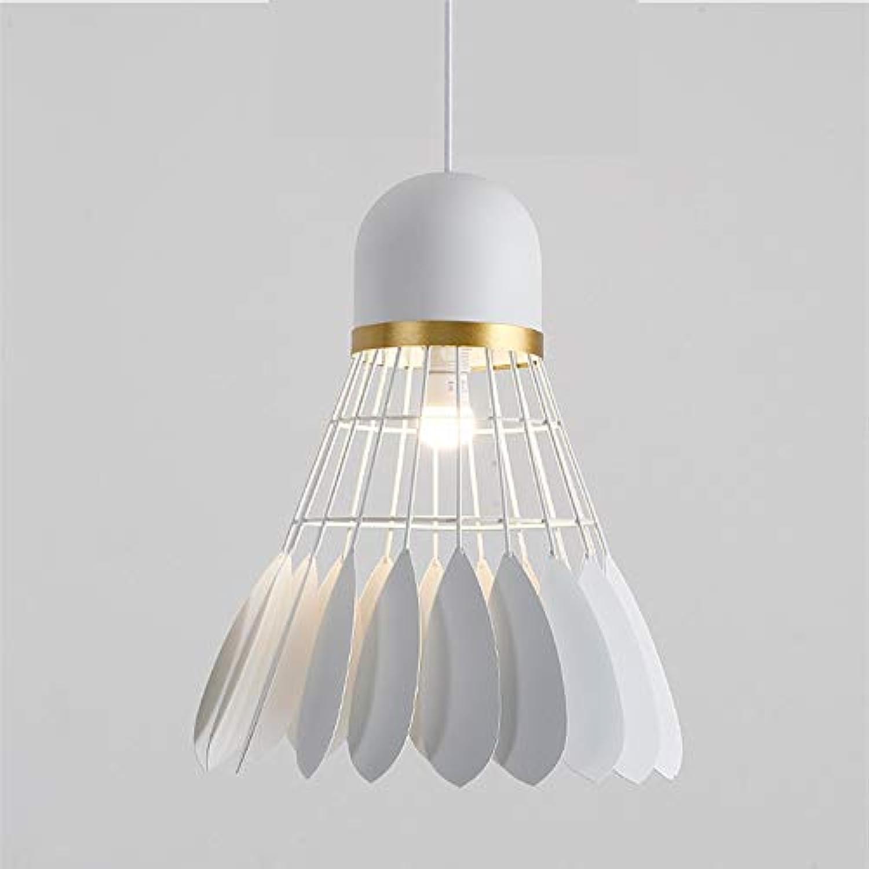 Zuhause Nordic Creative Art Schmiedeeisen Badminton Kronleuchter Stehtisch Schlafzimmer Nachttisch Balkon Beleuchtung Lampen 5m2-10m2 Romantische Atmosphre (Farbe   Weiß)