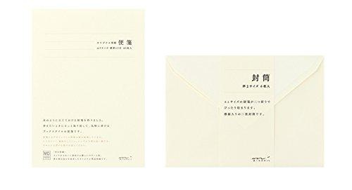 ミドリ 便箋 A5 + 封筒 洋2 MDクリーム セット