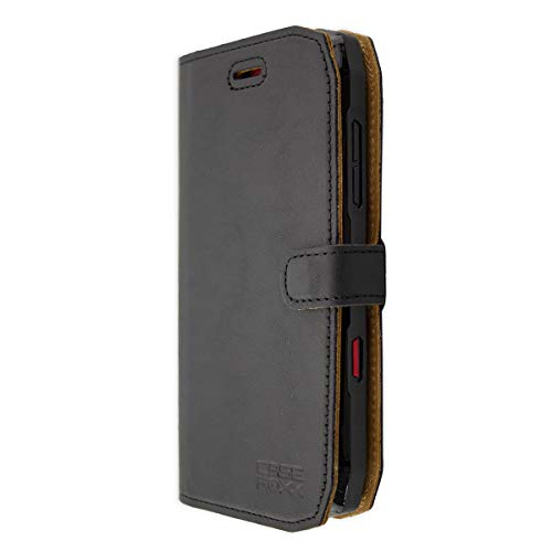 caseroxx Tasche für Crosscall Action-X3 Bookstyle-Case in schwarz Hülle Buch